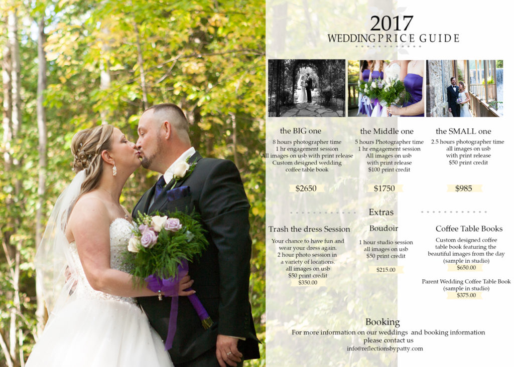 Wedding photography 2017 wedding packages orangeville for Wedding photo print packages