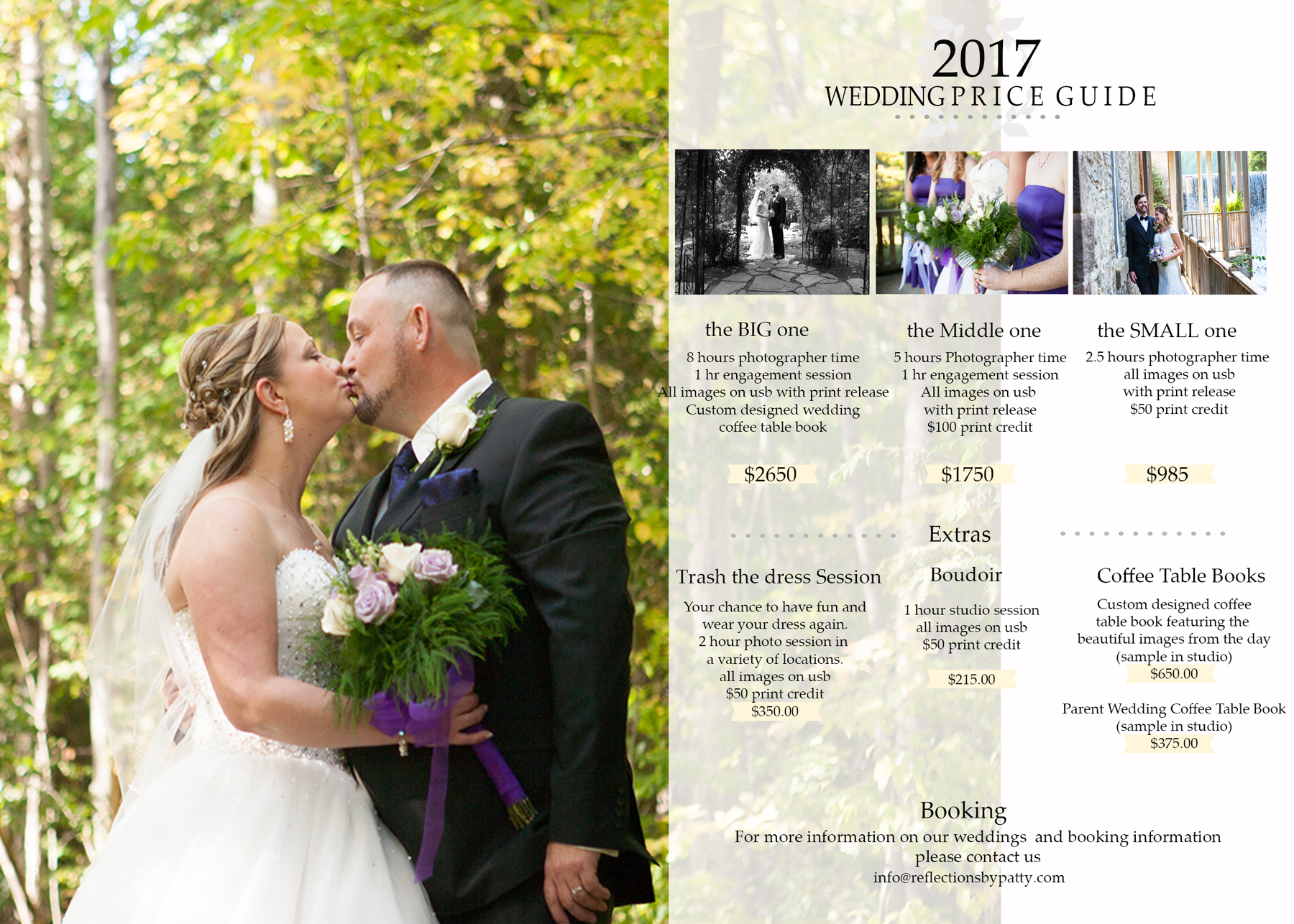 Wedding photography 2017 wedding packages orangeville for Best wedding photography packages